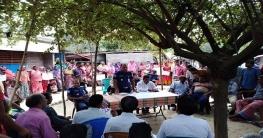 বাগাতিপাড়ায় মাদকসেবীদের ধাওয়া, পুলিশের সমাবেশ
