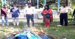 নলডাঙ্গায় অবৈধ সোঁতি জাল অপসারণ করলেন ভ্রাম্যমাণ আদালত