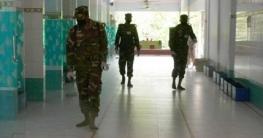 নাটোরে রাস্তায়, মসজিদে জীবানুনাশক স্প্রে করছে সেনাবাহিনী