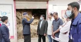 গুরুদাসপুরে ৫ হাজার মণ পাট মজুত করায় গোডাউন সিলগালা