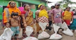 নাটোর পৌরসভার ৬ নং ওয়ার্ডের হরিজন সম্প্রদায়ের মাঝে খাদ্য বিতরণ