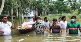 নলডাঙ্গায় বারনই নদীর পানি বিপদসীমার ৪ সেন্টিমিটার ওপরে বাড়ছে