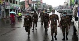 নাটোরে কঠোর লকডাউন বাস্তবায়নে মাঠে সেনাবাহিনী