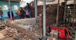 নলডাঙ্গা হাটের নির্মাণাধীন অবৈধ্য স্থাপনা উচ্ছেদ