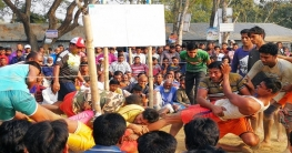 সিংড়ায় গ্রাম বাংলার জনপ্রিয় হা-ডু-ডু খেলা অনুষ্ঠিত