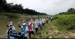 নাটোরে বড়াল নদী রক্ষার দাবিতে ১১ কি:মি: পদযাত্রা